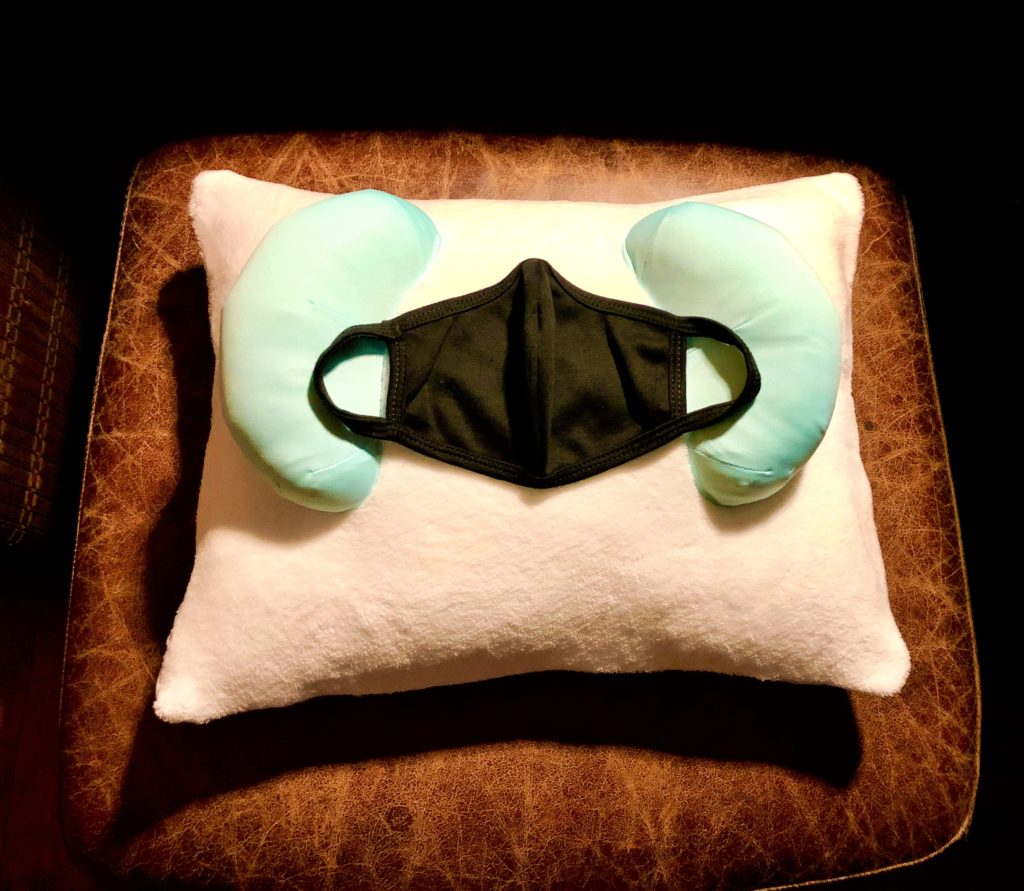 Minimize the impact on your wrinkles from wearing a face mask with the best wrinkle prevention beauty sleep pillow Back to Beauty Anti Wrinkle Head Cradle.
